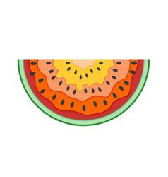 half slice watermelon flat icon of vector image