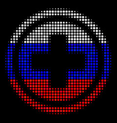 Halftone russian pharmacy icon vector
