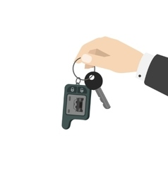 Hand holding car keys vector image