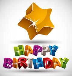 Happy birthday phrase vector