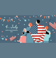 happy fourth july america independence day vector image