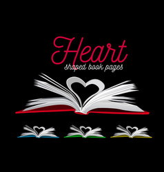 heart from book pages on vector image