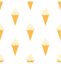 ice cream seamless pattern flat design stock vector image