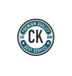 initial letter ck elegance logo design template vector image
