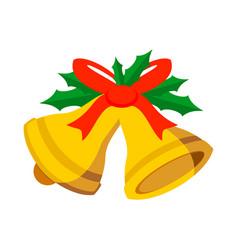 jingle bells ribbon vector image