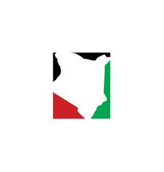 Kenya map logo icon symbol element vector