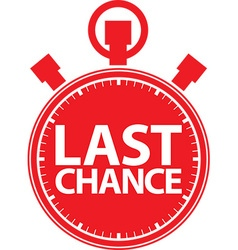Last chance stopwatch icon vector