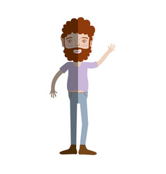 Man with beard and casual clothes vector