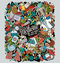 medicine hand drawn doodles vector image