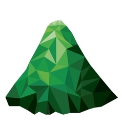 mountain low poly isolated icon design vector image