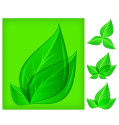 Natural design leaf green background 10 v vector
