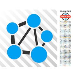 network flat icon with bonus vector image