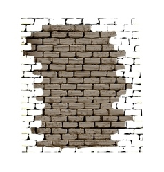Old brick wall with plaster white background vector