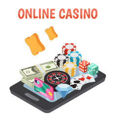 Online casino design concept vector