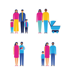 outdoor together family vector image