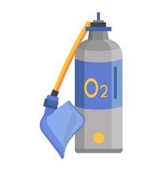 oxygen icon flat style vector image