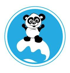 Panda-surf-pw vector