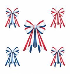 Patriotic ribbons vector