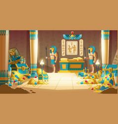 pharaoh tomb full treasures cartoon vector image