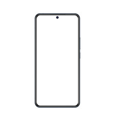 phone mockup with black frame and white blank vector image