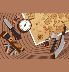 planning expedition to discover new lands vector image