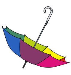 Rainbow color umbrella vector