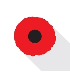 Red Poppy Flat Icon vector image