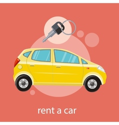 Rent a car vector image