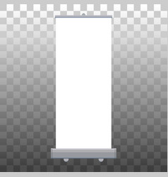 Roll up banner isolated empty display vector
