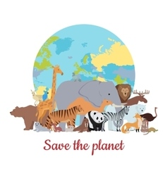 Save the Planet Baner vector