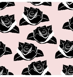 Seamless wallpaper roses vector