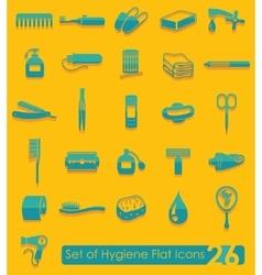 Set hygiene icons vector