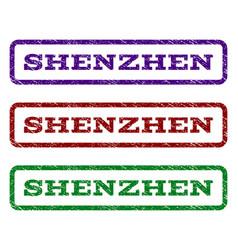 shenzhen watermark stamp vector image