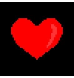 Sign pixel heart 806 vector image