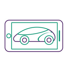 Smartphone gps navigation vehicle smart vector
