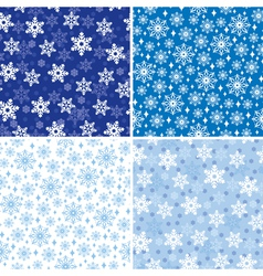 Snow pattern set vector
