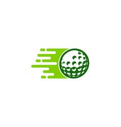 speed golf logo icon design vector image