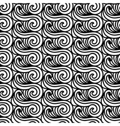 Stylised Maori Koru Seamless Pattern Abstract vector image