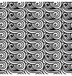 Stylized maori koru seamless pattern abstract vector