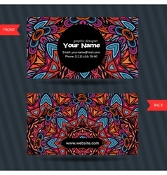 templates set business card vector image