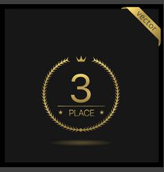 Third place laurel wreath icon vector