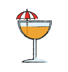 tropical cocktail icon image vector image