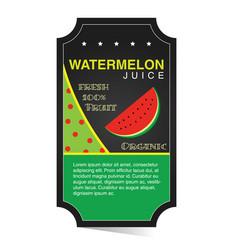 Watermelon juice banner vector