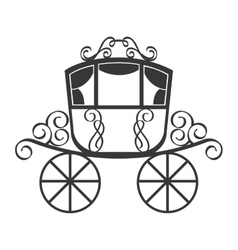 Wedding carriage isolated icon design vector