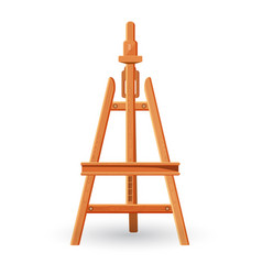 Wooden easel upright support used for displaying vector
