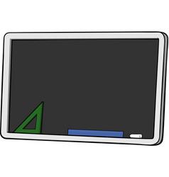 isolated cartoon blackboard vector image