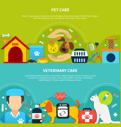 pet care banners vector image vector image