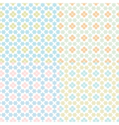 set of seamless abstract vector image