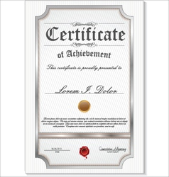 silver detailed certificate vector image