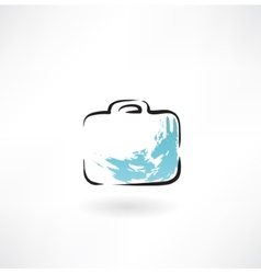suitcase grunge icon vector image vector image